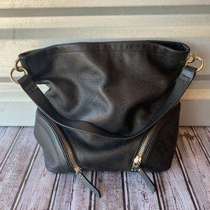 Vince Camuto Black Slouchy Shoulder Hobo Bag